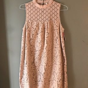 Speechless Pink Large Lace Romper NWT